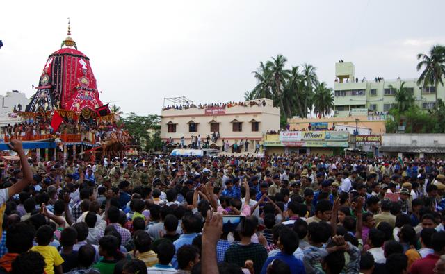 ジャガンナート寺院の年に一度の祭り、ラタ・ヤットラ